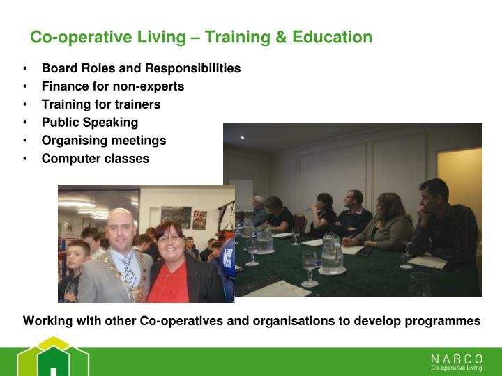 Co-operative Living – Training & Education