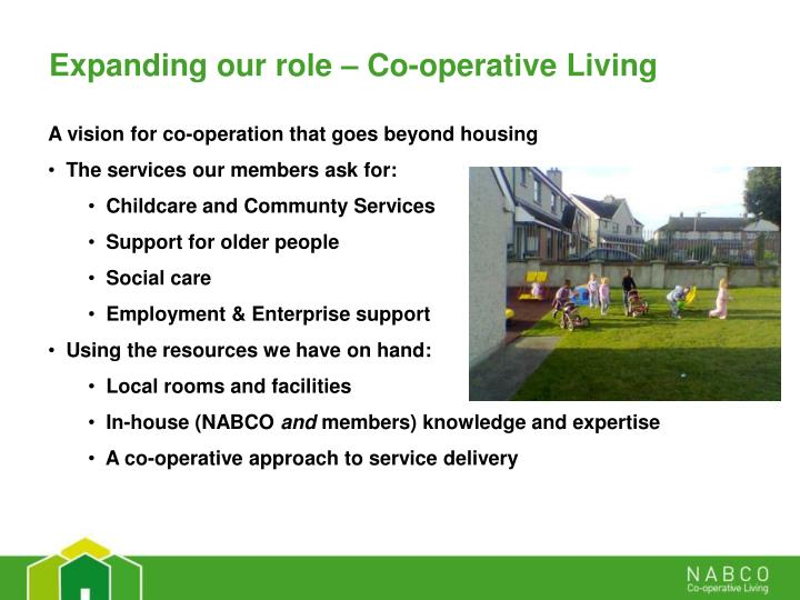 Expanding our role – Co-operative Living