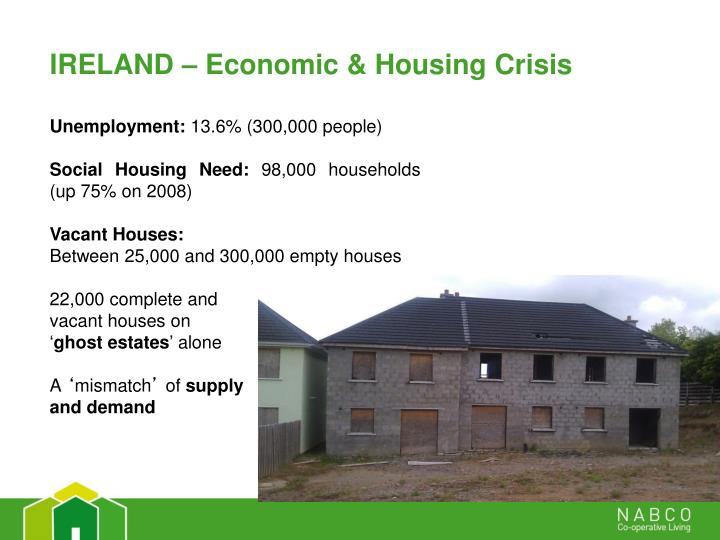IRELAND – Economic & Housing Crisis