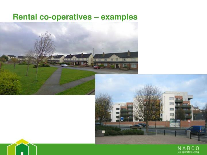 Rental co-operatives – examples