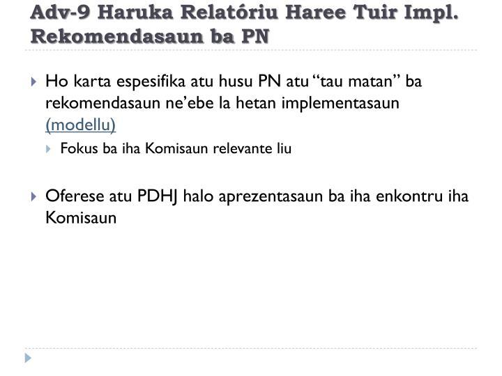 Adv-9 Haruka Relatóriu Haree Tuir