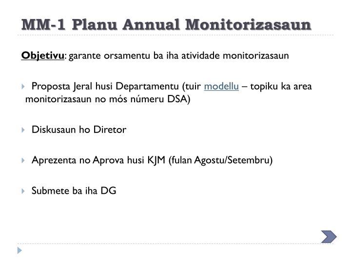 MM-1 Planu Annual Monitorizasaun