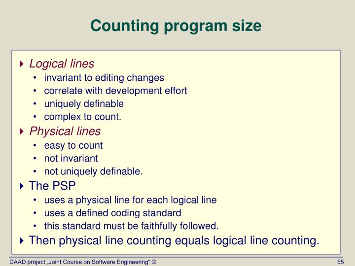 Counting program size