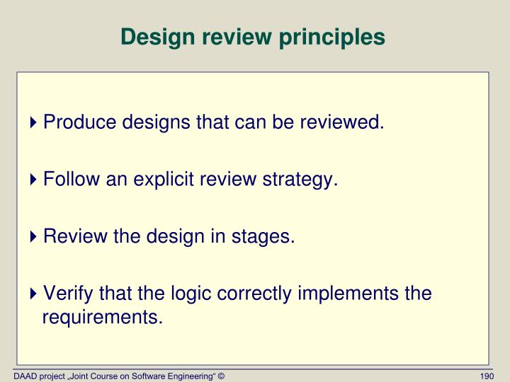 Design review principles