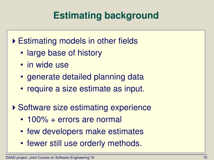 Estimating background
