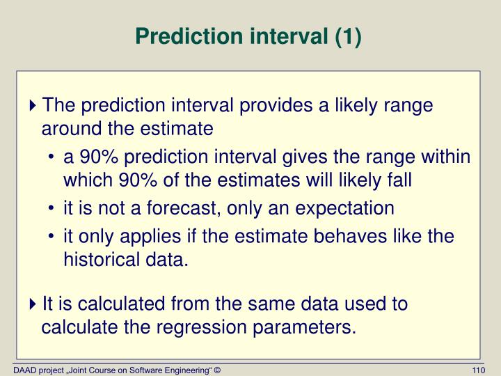 Prediction interval (1)