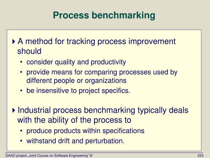 Process benchmarking