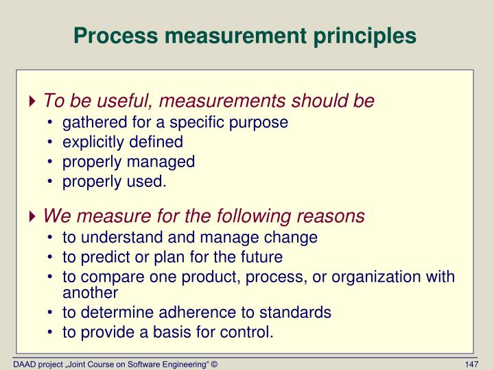 Process measurement principles