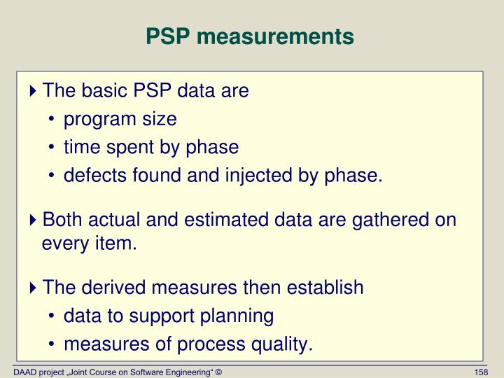 PSP measurements