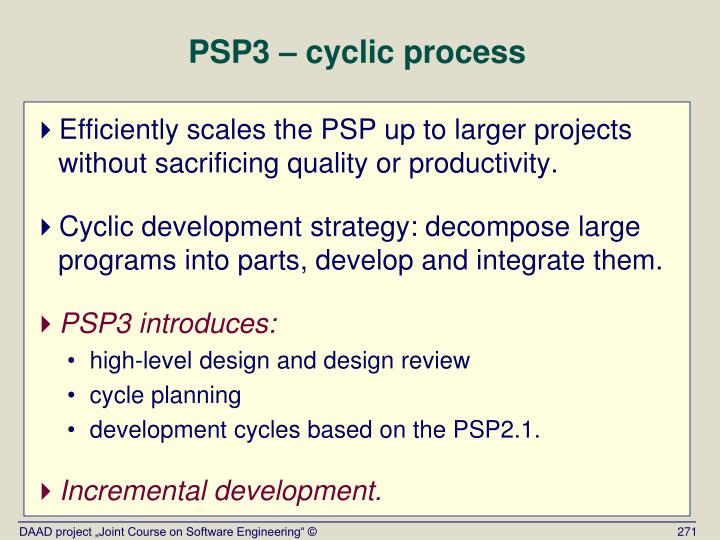 PSP3 – cyclic process