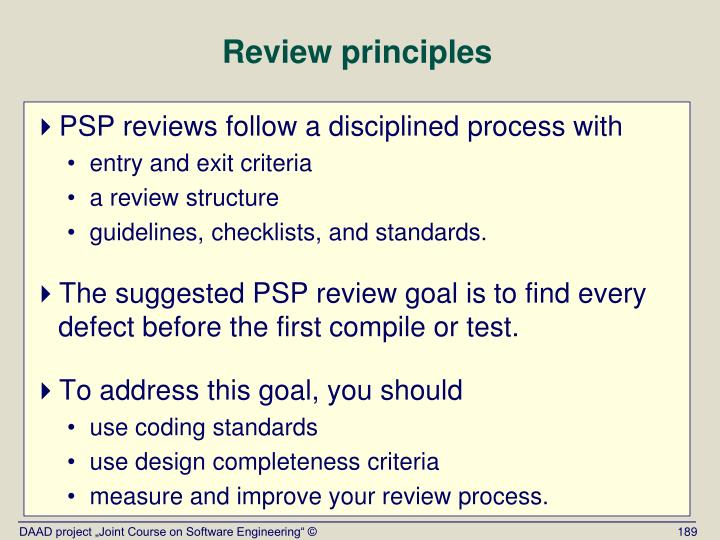 Review principles