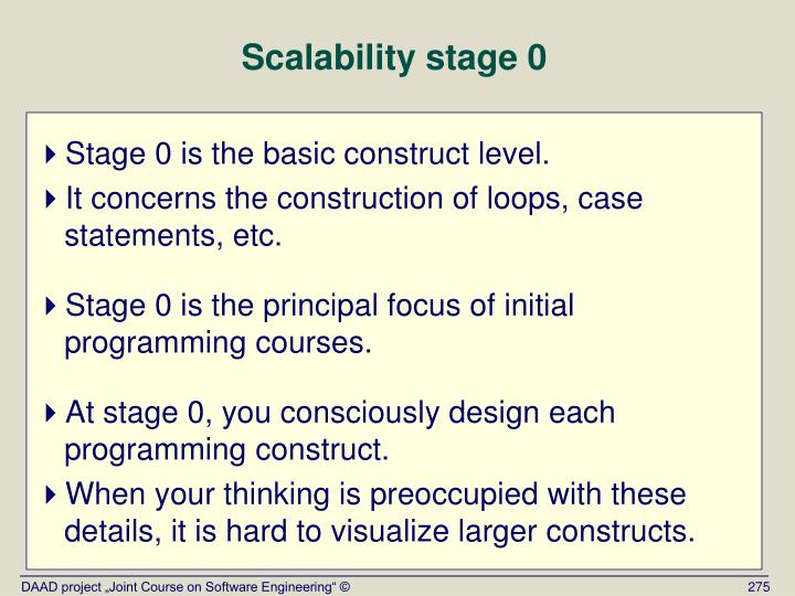 Scalability stage 0