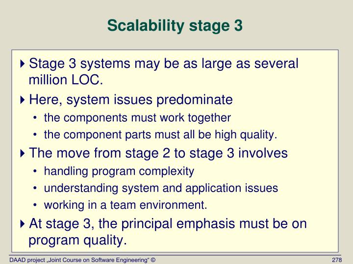 Scalability stage 3