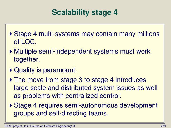 Scalability stage 4