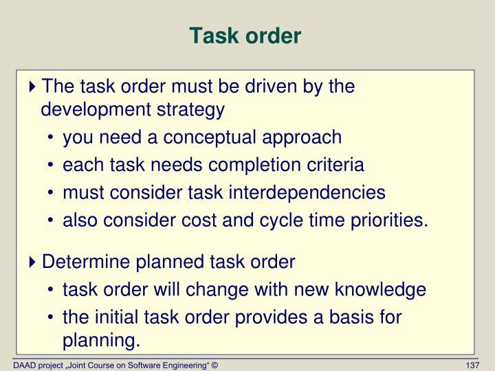Task order