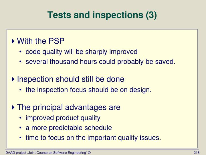 Tests and inspections (3)