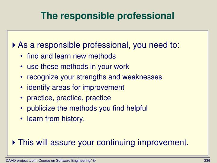 The responsible professional