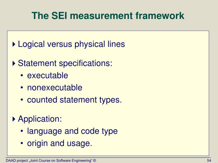 The SEI measurement framework