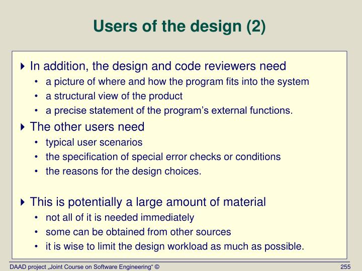 Users of the design (2)