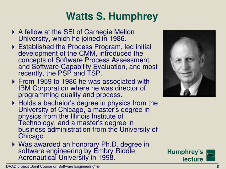 Watts S. Humphrey