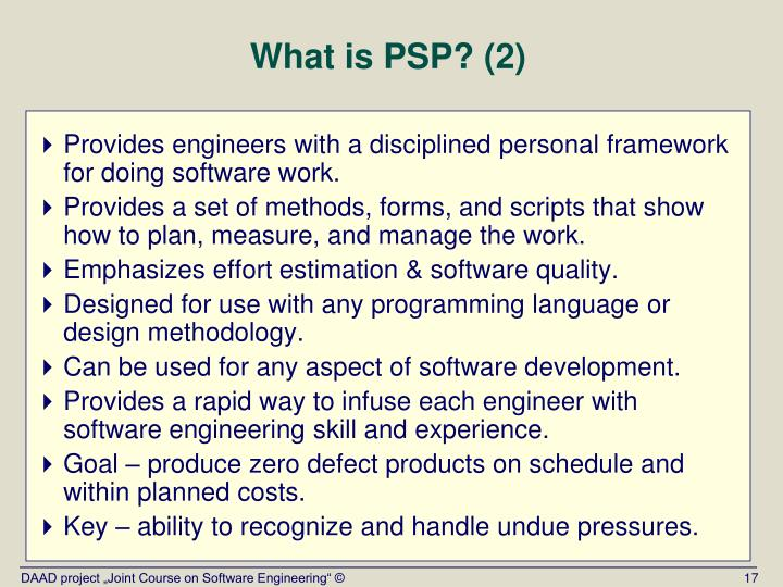 What is PSP? (2)