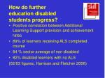 how do further education disabled students progress