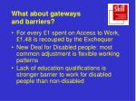 what about gateways and barriers