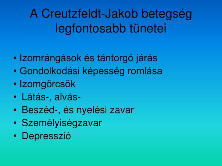 A Creutzfeldt-Jakob betegség