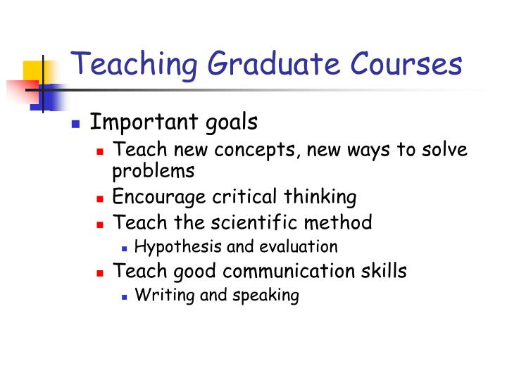 Teaching Graduate Courses