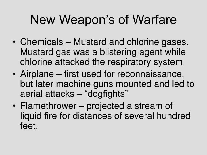New Weapon's of Warfare