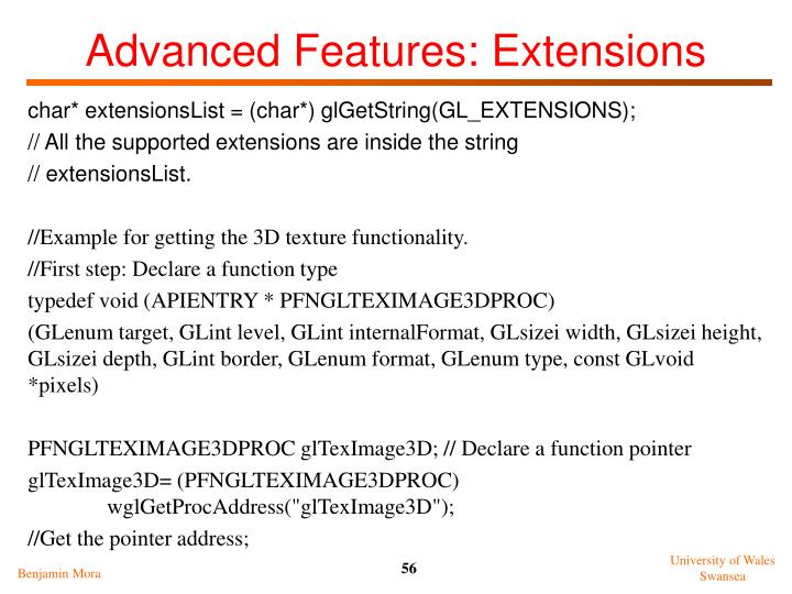 Advanced Features: Extensions