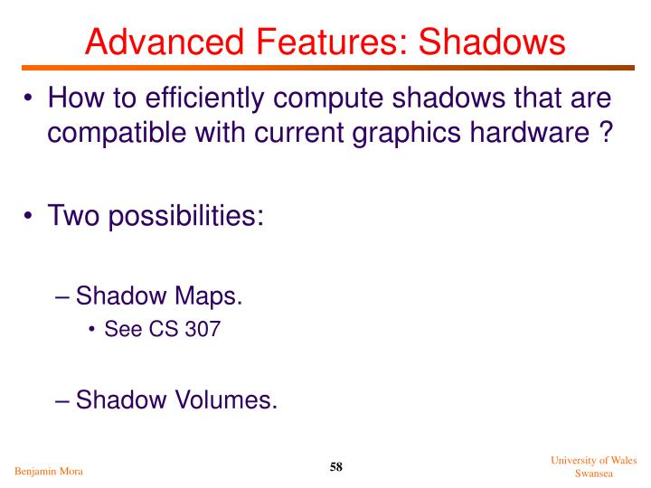 Advanced Features: Shadows