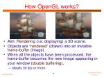 how opengl works