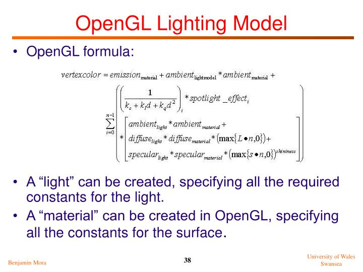 OpenGL Lighting Model