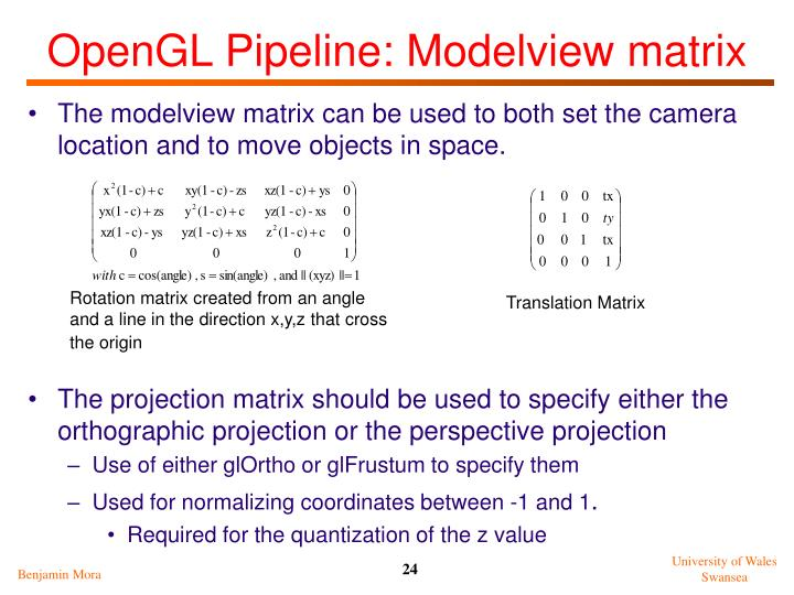 OpenGL Pipeline: Modelview matrix
