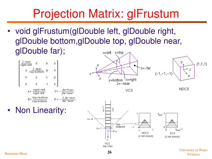 Projection Matrix: glFrustum