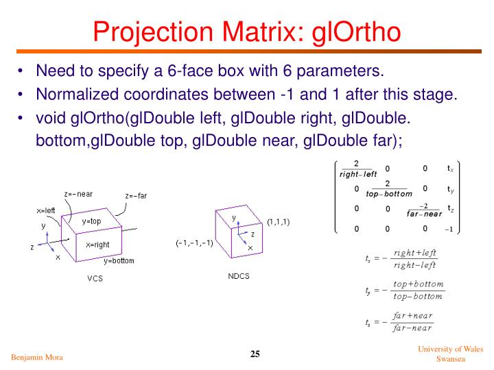 Projection Matrix: glOrtho