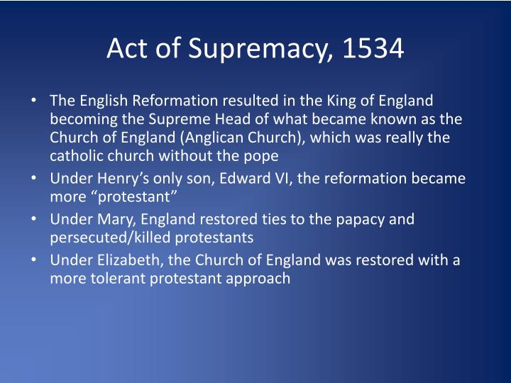 Act of Supremacy, 1534