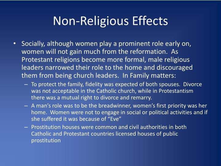 Non-Religious Effects