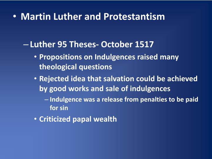 Martin Luther and Protestantism