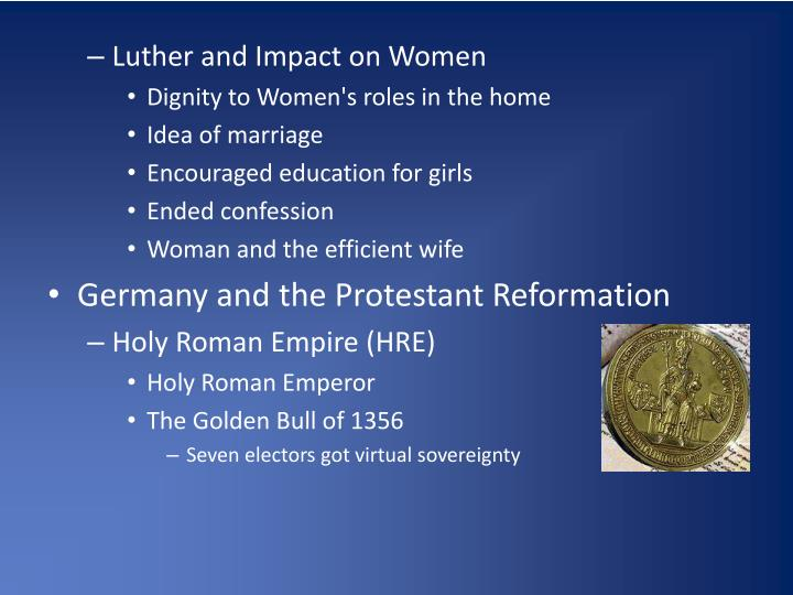 Luther and Impact on Women