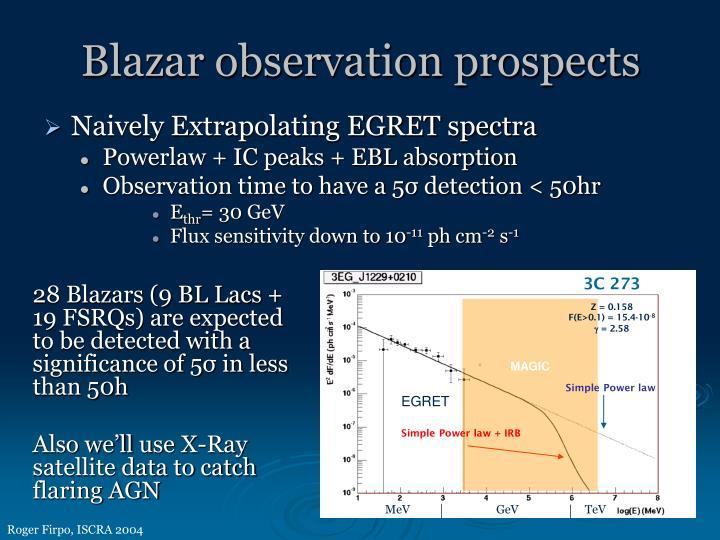 Blazar observation prospects