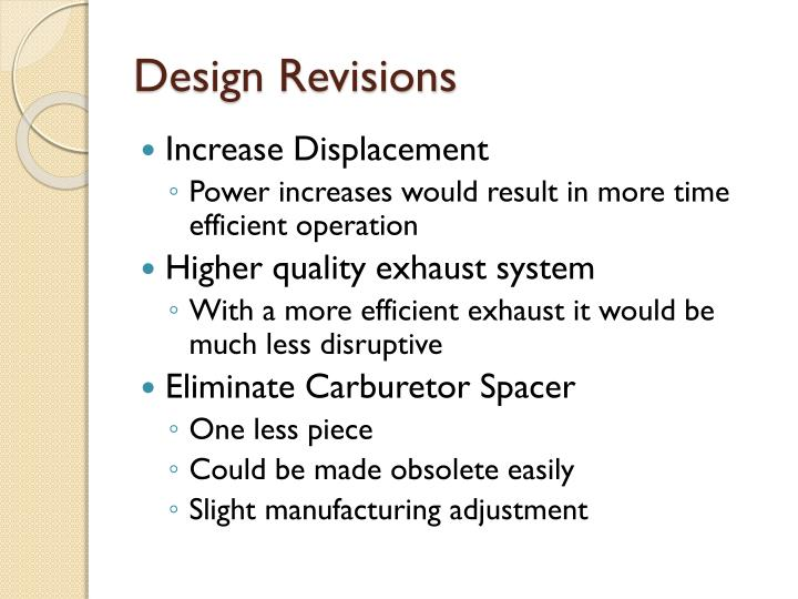 Design Revisions