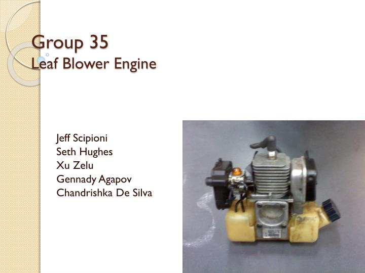 Group 35 leaf blower engine