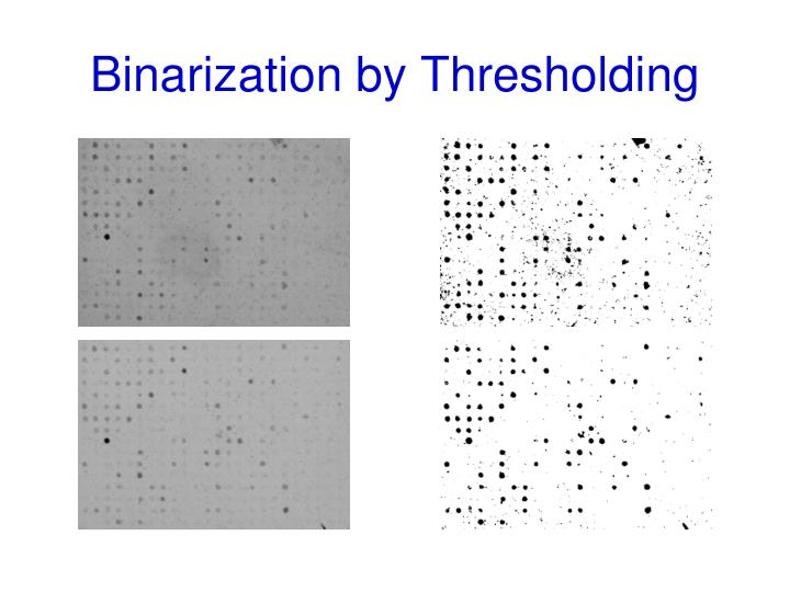 Binarization by Thresholding