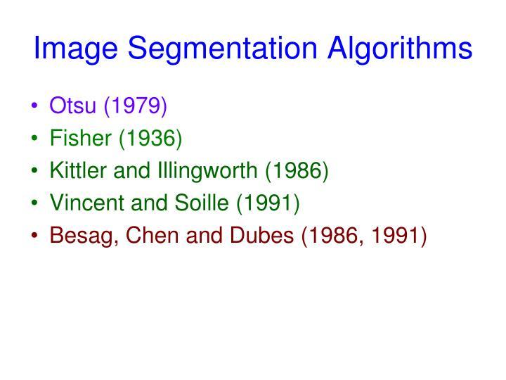 Image Segmentation Algorithms