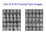 part of 5 40 training face images
