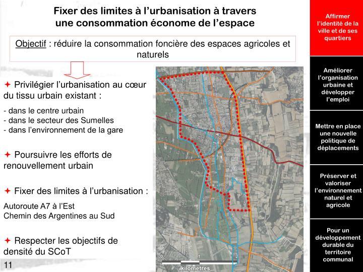 Fixer des limites à l'urbanisation à travers