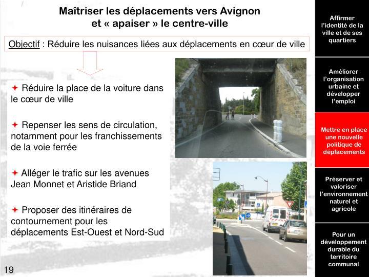 Maîtriser les déplacements vers Avignon