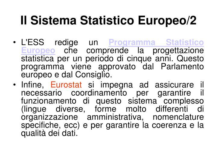 IlSistema Statistico Europeo/2